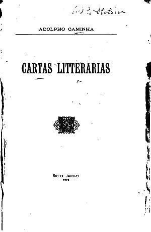 Cartas litterárias (1895) [Reprint]: Adolfo Caminha