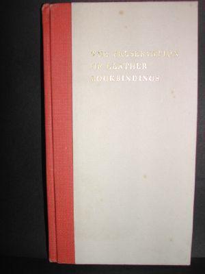 The Preservation of Leather Bookbindings. by Plenderleith,: Plenderleith, H. J.