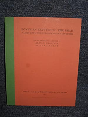 Egyptian Letters to the Dead by Gardiner AbeBooks