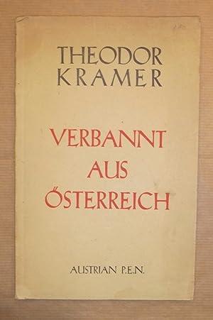 Verbannt aus Österreich. Neue Gedichte.: Kramer, Theodor: