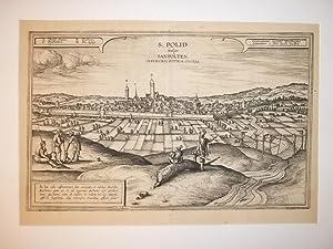 """S. Polid vulgo Sanpölten. Inferioris Austriae Civitas""""."""