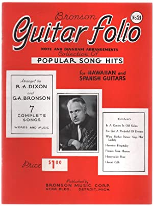 Bronson's Song Folio For Hawaiian And Spanish Guitars No. 21: Collection of Popular Song Hits....