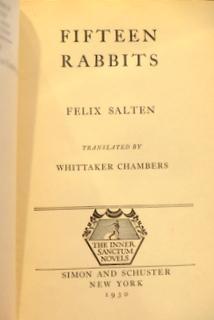 Fifteen Rabbits: Salten, Felix (Inscribed)