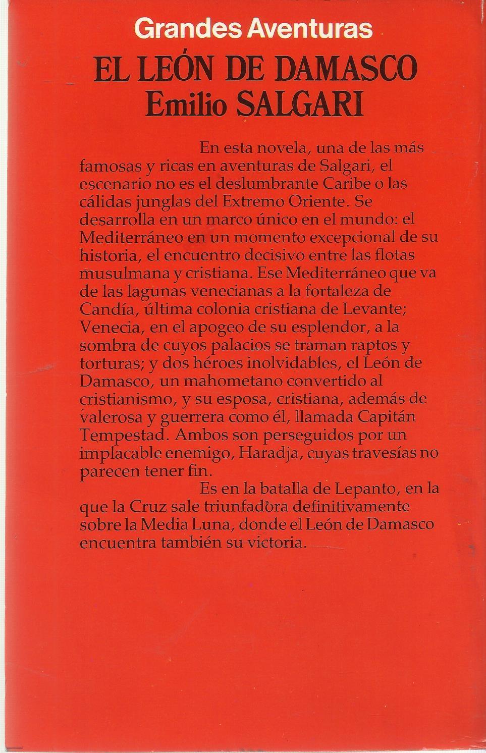 El leon de Damasco de Emilio Salgari: EDICIONES FORUM, S.A. ...