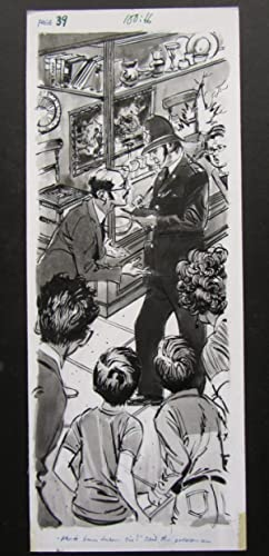 Original Illustration for Page 39 of the: Blyton, Enid