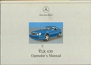 Mercedes-Benz CLK 430 Operator's Manual