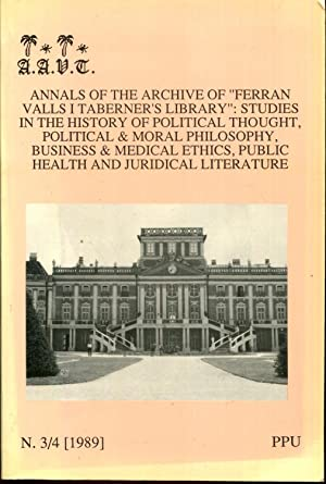 """Annals of the Archive of """"Ferran Valls I Teberner's Library"""": Studies in the History..."""