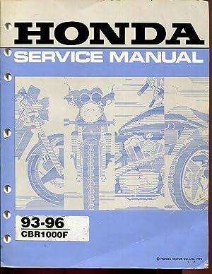 1993 1994 1995 1996 Honda CBR1000F 1000F Motorcycle Repair Service Shop Manual: honda