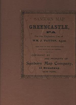 Sanborn Map of Greencastle PA, for the