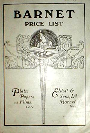 Barnet Price List. Plates, papers and films, 1909.