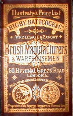 Rigby, Battock & Co . London, Brush Manufacturers & Warehousemen, Illustrated Price List.