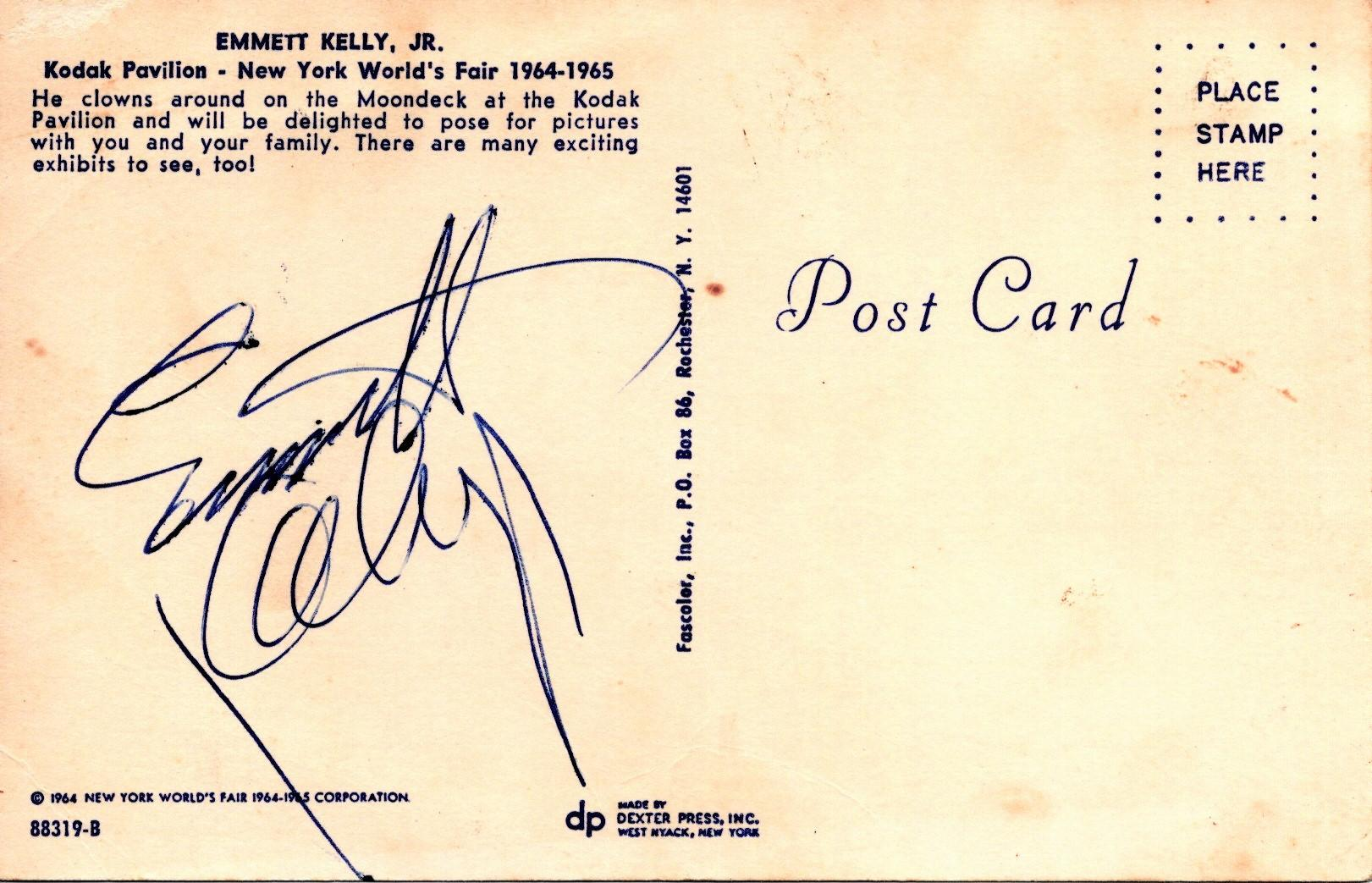 AUTOGRAPHED_POSTCARD_WITH_COLOR_PICTURE_OF_WEARY_WILLIE_Kelly_Emmett_Jr___Softcover