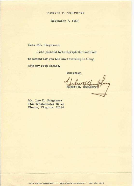 TYPED_LETTER_SIGNED_BY_FORMER_VICEPRESIDENT_OF_THE_UNITED_STATES_HUBERT_HUMPHREY_Humphrey_Hubert_H___Softcover