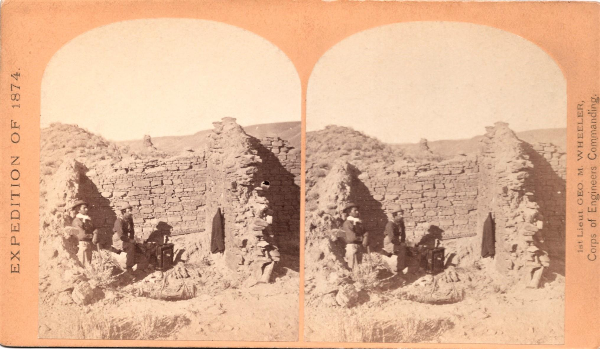 WHEELER_EXPEDITION_STEREOVIEW_No_43_CHARACTERISTIC_RUIN_OF_THE_PUEBLO_SAN_JUAN_NEW_MEXICO_OSullivan_Timothy_H_Very_Good_Softcover