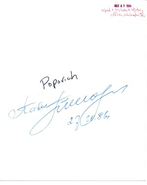 SIGNED PHOTOGRAPH OF RUSSIAN COSMONAUT PAVEL POPOVICH
