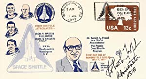 SPACE SHUTTLE POSTAL COVER SIGNED BY THE FIFTH NASA ADMINISTRATOR ROBERT A. FROSCH