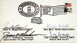 POSTAL COVER SIGNED BY BEGGS, MARK, ABRAHAMSON, AND HODGE