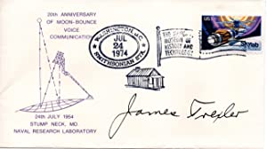 MOON BOUNCE POSTAL COVER SIGNED BY JAMES TREXLER