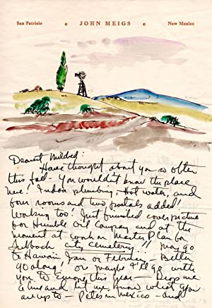 ORIGINAL MANUSCRIPT LETTER FROM JOHN MEIGS TO MILDRED DILLING