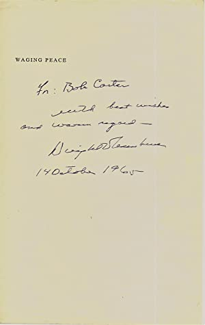 LEAF FROM A BOOK SIGNED BY DWIGHT EISENHOWER