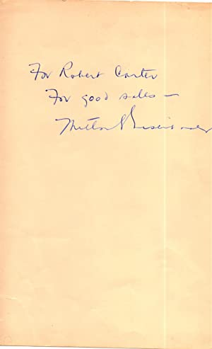 LEAF FROM A BOOK SIGNED BY MILTON EISENHOWER