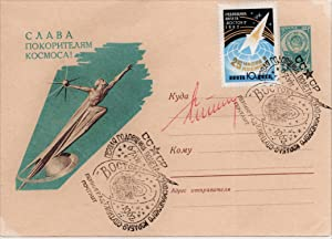 POSTAL COVER SIGNED BY RUSSIAN COSMONAUT GHERMAN STEPHANOVICH TITOV