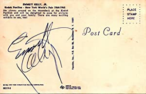 AUTOGRAPHED POSTCARD WITH COLOR PICTURE OF