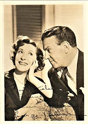 PHOTOGRAPH SIGNED BY GEORGE BURNS AND GRACIE ALLEN
