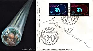 FIRST DAY COVER SIGNED BY ACTRESS GLORIA SWANSON