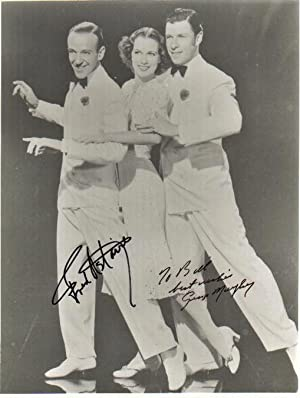 PHOTOGRAPH SIGNED BY FRED ASTAIRE AND GEORGE MURPHY