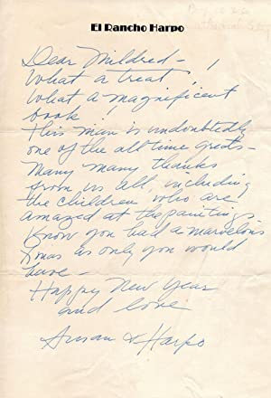 HANDWRITTEN LETTER SIGNED BY SUSAN FLEMING MARX
