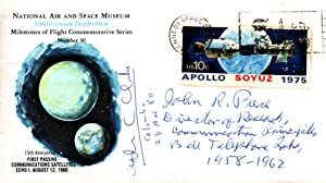 POSTAL COVER SIGNED BY ARTHUR C. CLARKE AND JOHN R. PIERCE