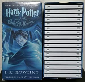 Harry Potter and the Order of the Phoenix Books On Tape Unabridged 17 Cassettes