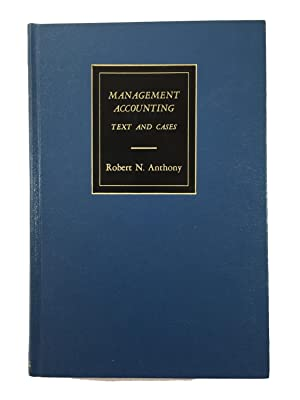 Management Accounting - Text and Cases: Robert N Anthony