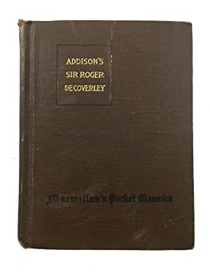 addison steele   essays   seller supplied images   abebooks sir roger de coverley papers essays from joseph addison and