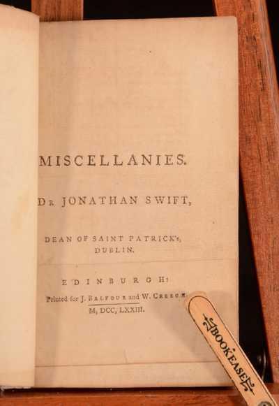 Miscellanies Jonathan Swift Hardcover