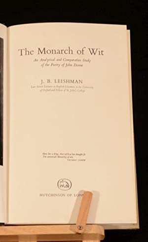 The Monarch of Wit: J. B. Leishman