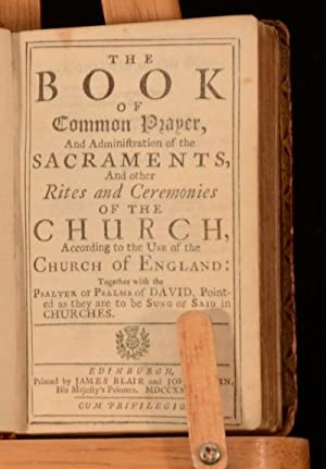1737 The Book of Common Prayer Administration of the Sacrements Miniature Book: Various