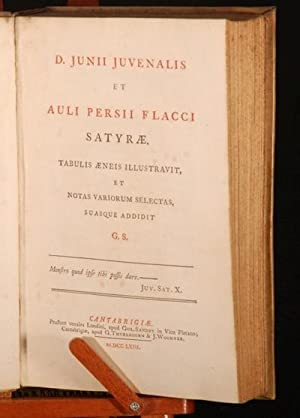 D. Junii Juvenalis et Auli Persii Flacci Satyrae.: William Sandby