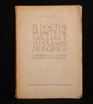 El Doctor Huarte de San Juan y: M.de Iriarte