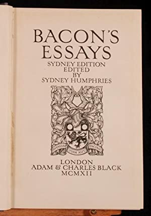 Books by francis bacon author of the essays