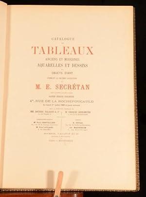 1889 2 Vol Catalogue De Tableaux Anciens Et Modernes M E Secretan Art Deluxe Ed: Anon