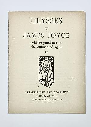 Prospectus for ULYSSES: Joyce, James