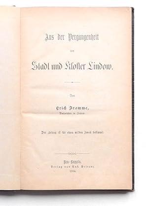 Aus der Vergangenheit von Stadt und Kloster: Fromme, Erich