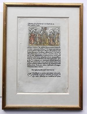 Speculum Humanae Salvationis. Ein Textblatt (fol. CCXXXVIII): Inkunabelblätter