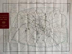 Itinéraire des omnibus dans Paris. Gravure dépliante: Frankreich/Paris