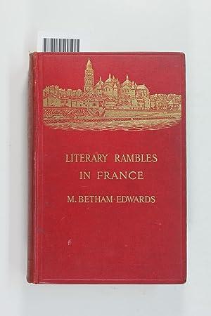 Literary rambles in France: Betham-Edwards, Matilda