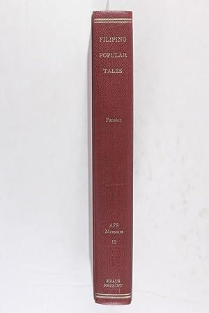 Filipino Popular Tales. [Memoirs of the American: Fansler, Dean S