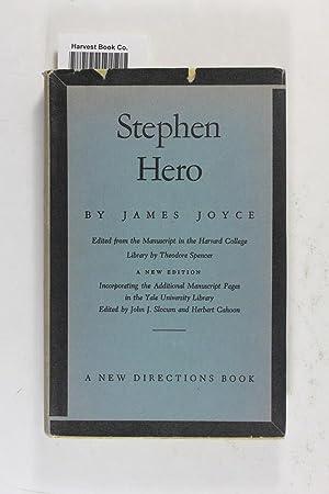 Stephen Hero: Joyce, James; Slocum,