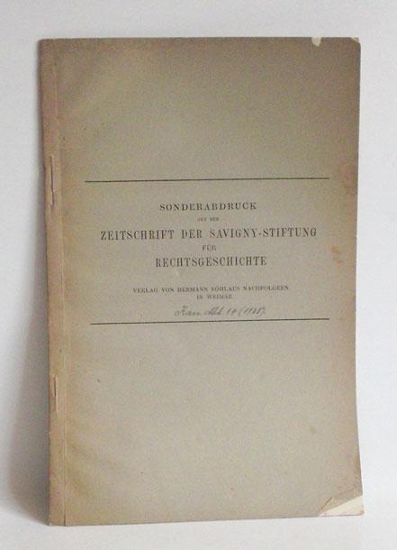Das älteste kölnische Offizialatsstatut (1306-1331). - Sonderdruck: Gescher, Franz):